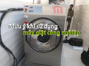sử dụng máy giặt công nghiệp