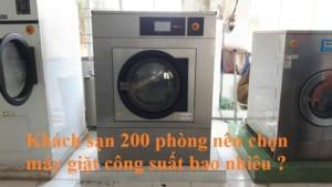 máy giặt cho khách sạn 200 phòng